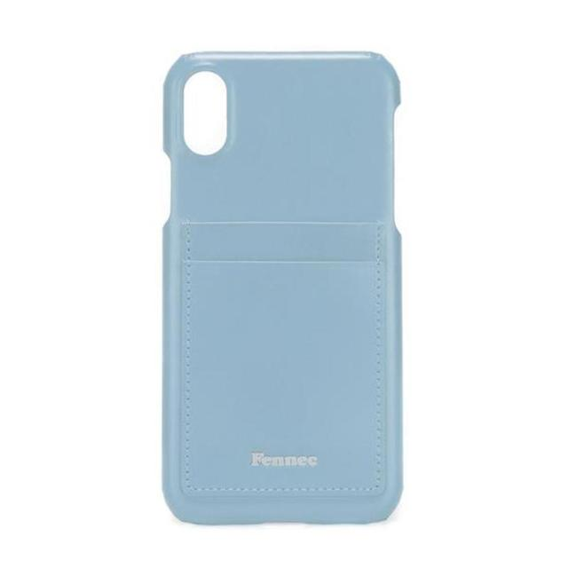 【現貨】LEATHER iPHONE X/XS CARD CASE -青澀水藍 / FOG BLUE