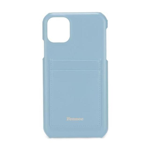 【現貨】LEATHER iPHONE 11 CARD CASE - 青澀水藍 / FOG BLUE