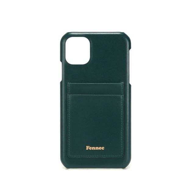 【現貨】LEATHER iPHONE 11 CARD CASE - 暗色黛綠 / MOSS GREEN