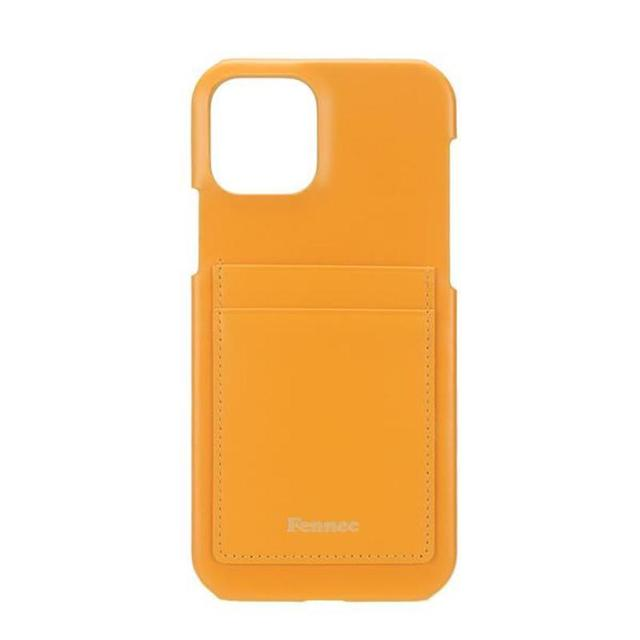 【現貨】LEATHER iPHONE 12 / 12 PRO CARD CASE  - 可愛橙黃 / MANDARIN