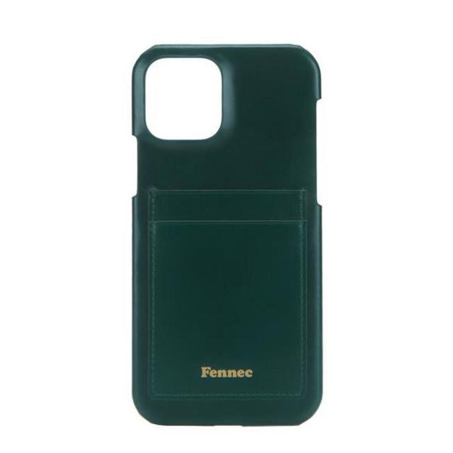 【現貨】LEATHER iPHONE 12 / 12 PRO CARD CASE - 暗色黛綠 / MOSS GREEN