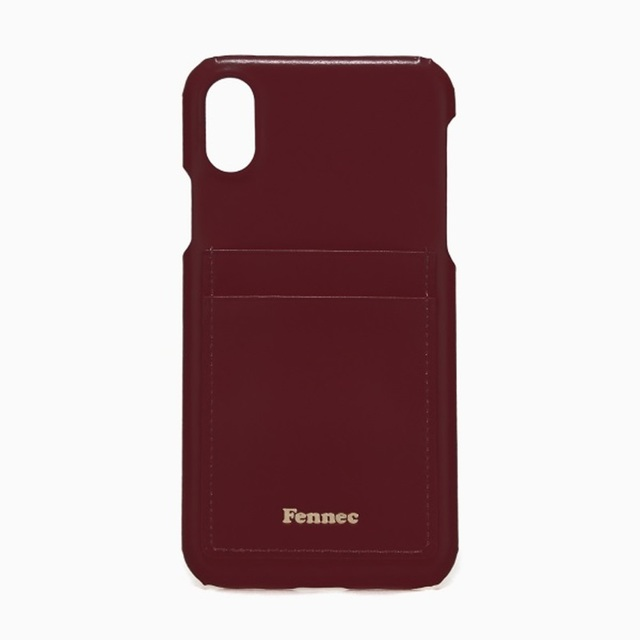 【現貨】LEATHER iPHONE X/XS CARD CASE -  沉醉酒紅 / WINE