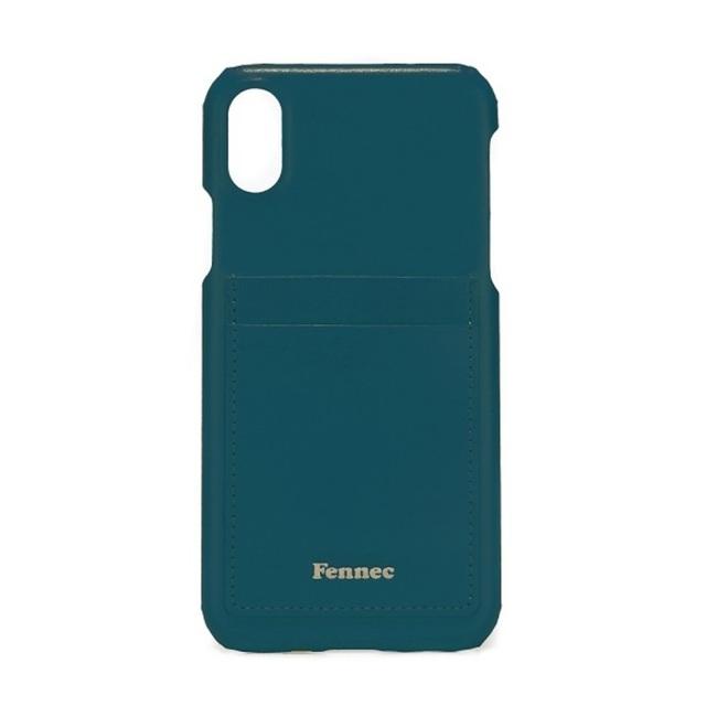 【現貨】LEATHER iPHONE X/XS CARD CASE - 孔雀藍 /  SEAGREEN