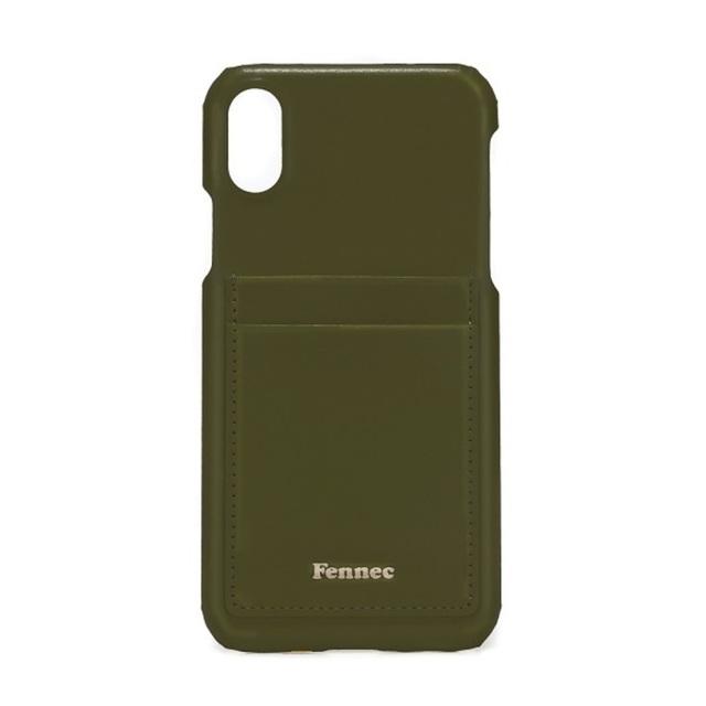 【現貨】LEATHER iPHONE X/XS CARD CASE - 黯軍綠/ KHAKI