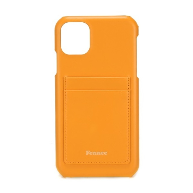 【現貨】LEATHER iPHONE 11 CARD CASE -  可愛橙黃 / MANDARIN