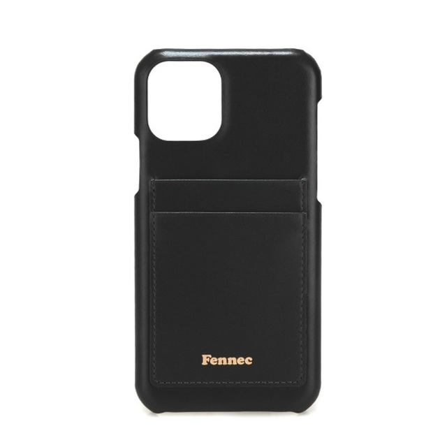 【現貨】LEATHER iPHONE 11 PRO CARD CASE  - 質感黑 / BLACK