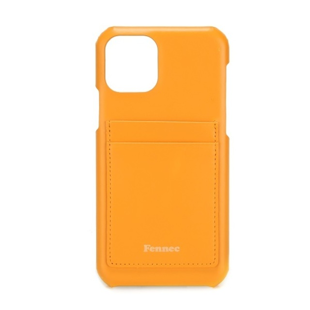 【現貨】LEATHER iPHONE 11 PRO CARD CASE  - 可愛橙黃 / MANDARIN