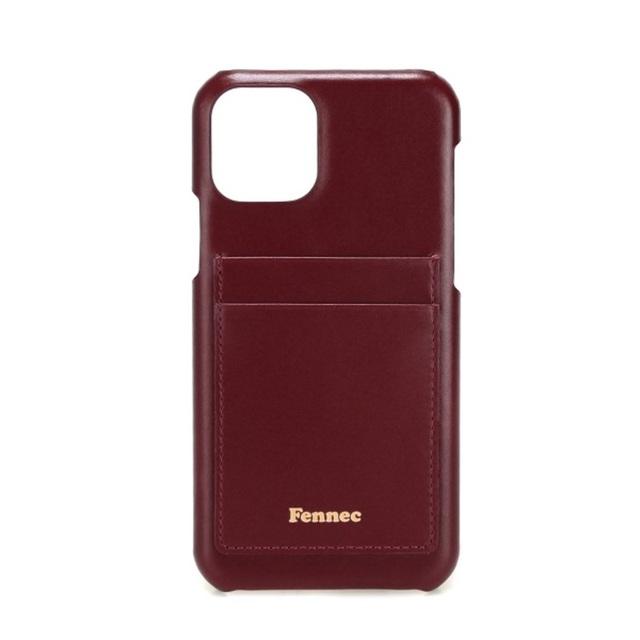 【現貨】LEATHER iPHONE 11 PRO CARD CASE  -  沉醉酒紅 / WINE