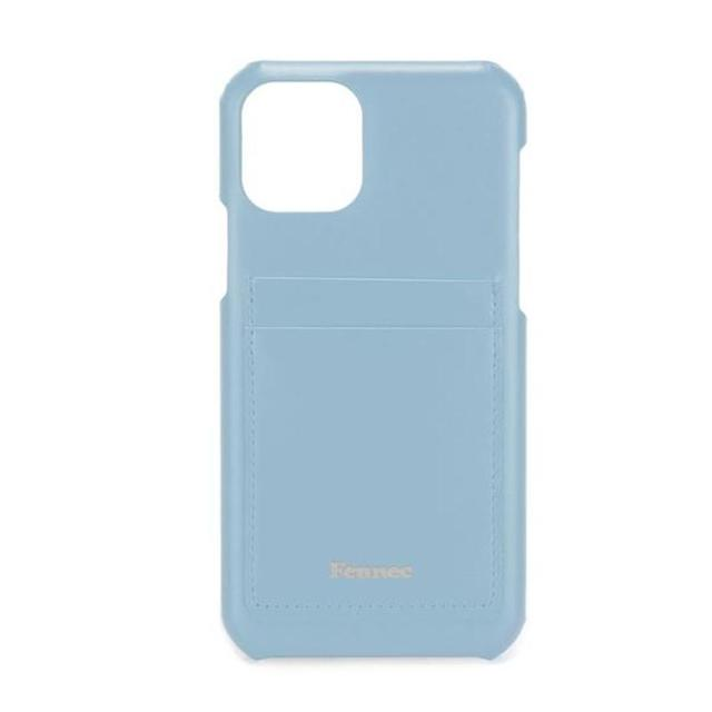 【現貨】 LEATHER iPHONE 11 PRO CARD CASE  - 青澀水藍 / FOG BLUE