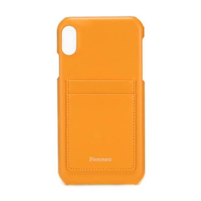 【現貨】LEATHER IPHONE XR CARD CASE - 可愛橙黃 /  MANDARIN