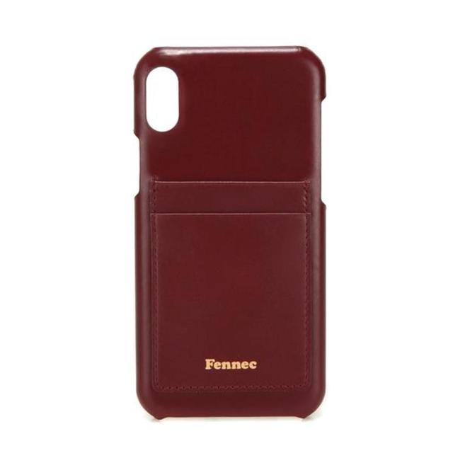 【現貨】LEATHER IPHONE XR CARD CASE - 沉醉酒紅 /  WINE