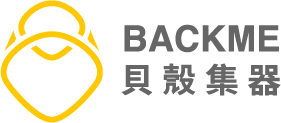 Backme logo with text